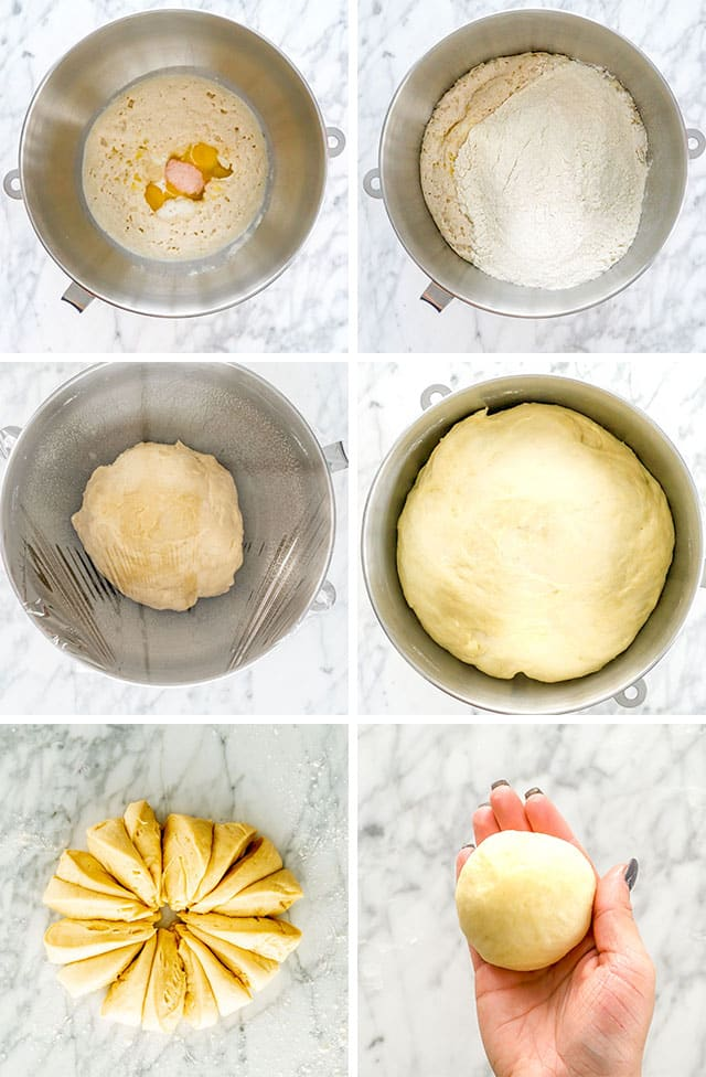 Classic Dinner Rolls process shots