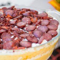 a bowl of romanian polenta