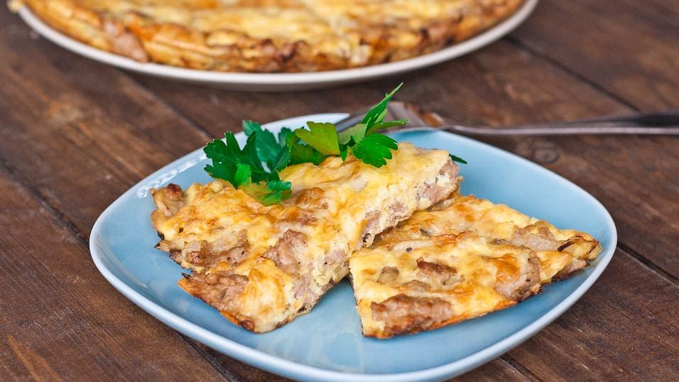 Mushroom and Sausage Frittata - Jo Cooks