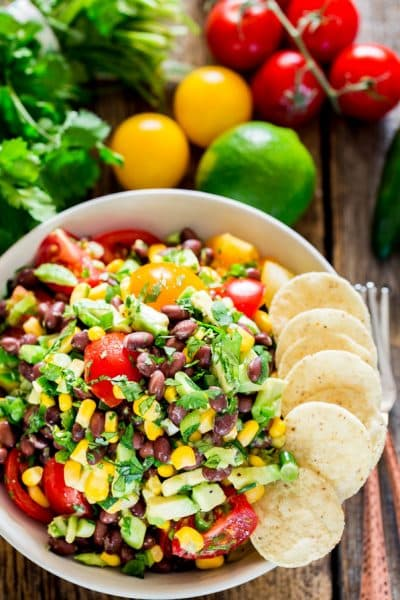Black Bean Corn and Avocado Salad