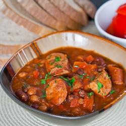 Beans and Sausage (Fasole cu Carnati)