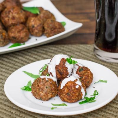 Baked Lebanese Lamb Meatballs