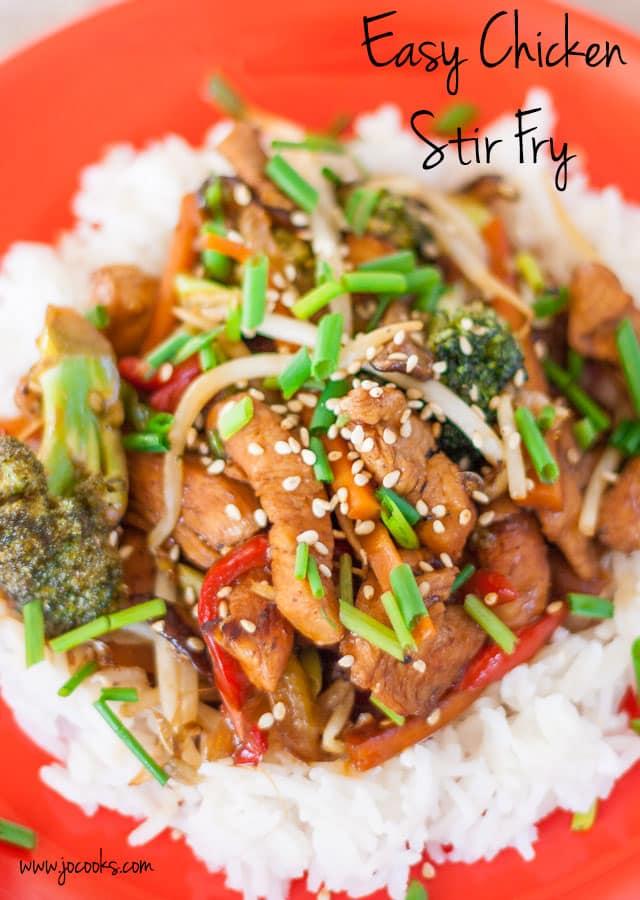 Easy Chicken Stir Fry Jo Cooks