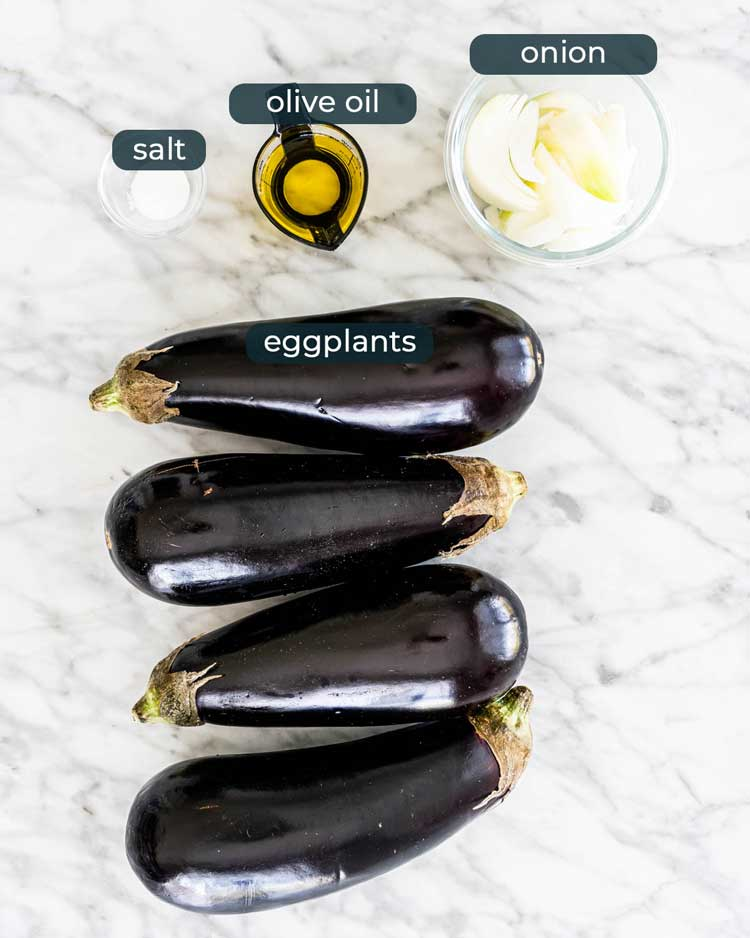 ingredients needed to make eggplant dip