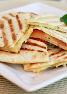 golden gruyere and prosciutto tortillas