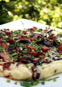 omelette with bacon and mushrooms6