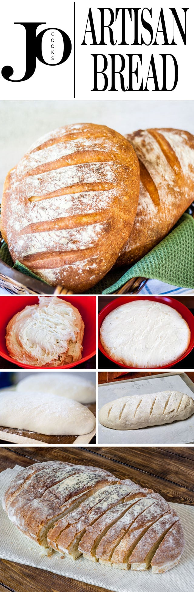 4 Ingredient No Fail No Knead Artisan Bread that's easy and delicious! Perfect for those who love freshly home baked bread right out of the oven. #4ingredients #artisanbread #noknead