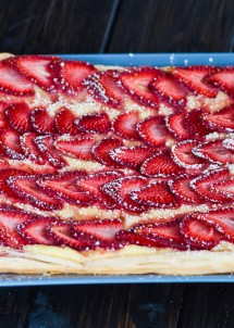 strawberry and custard tart-2