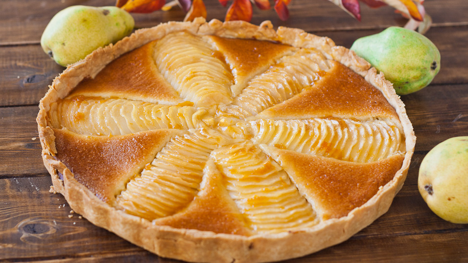 Pear and Almond Cream Tart - Jo Cooks