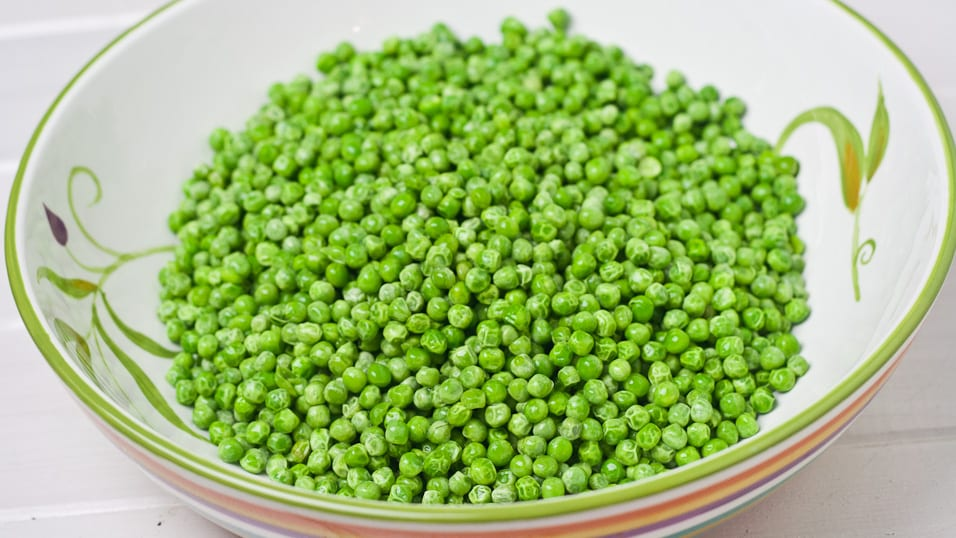 a bowl of peas