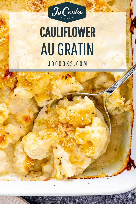 pin for cauliflower au gratin.