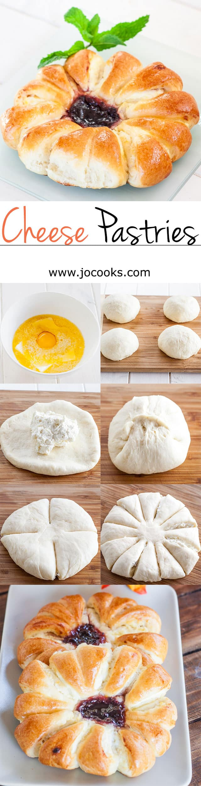Step shots of Cheese Pastries