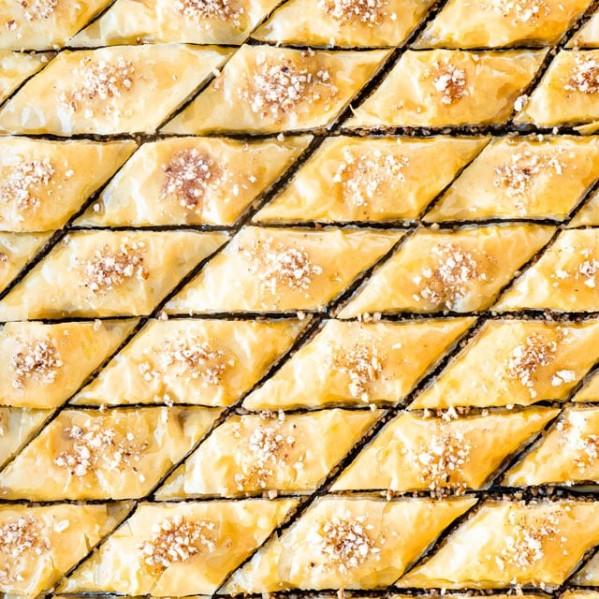 overhead shot of baklava