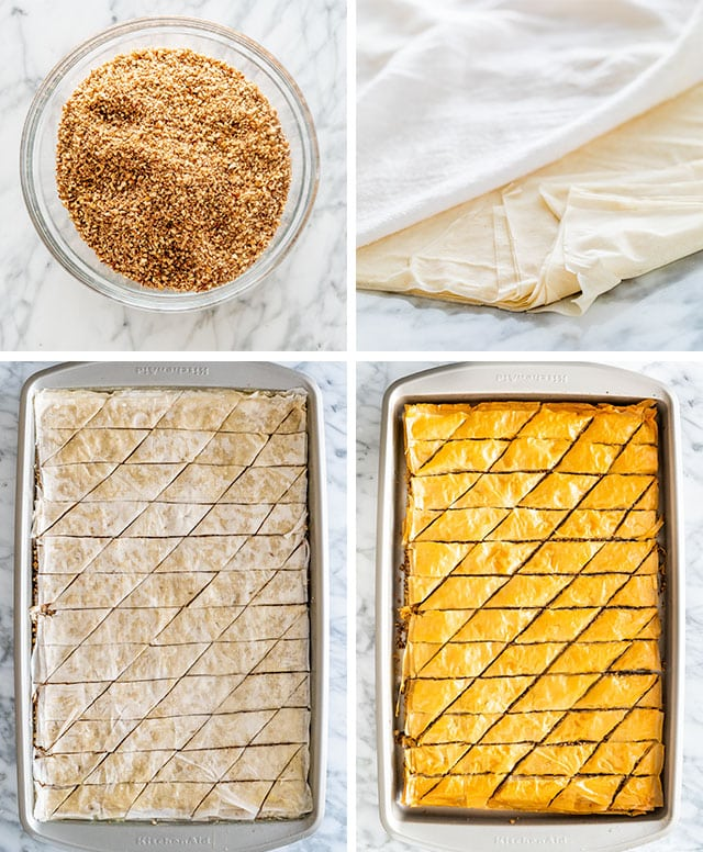 Baklava Recipe process shots