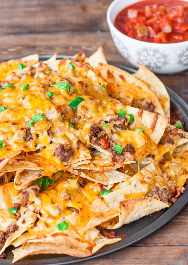 Beef and Cheese Nachos with Chorizo Sausage
