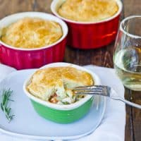 a chicken pot pie