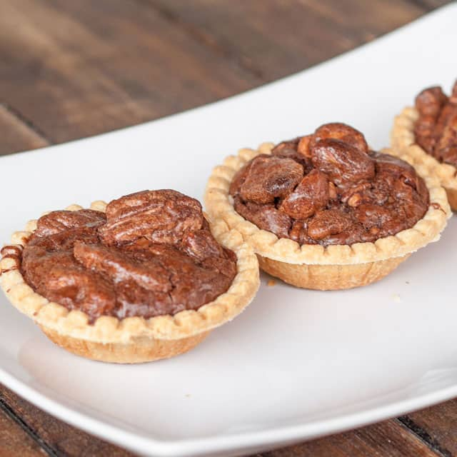 Finished Chocolate Nut Tarts