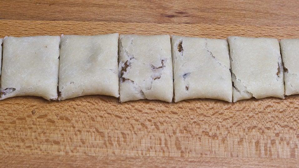 Process shot of making Italian Fig Cookies
