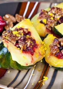 roasted squash with cranberry crumble-11