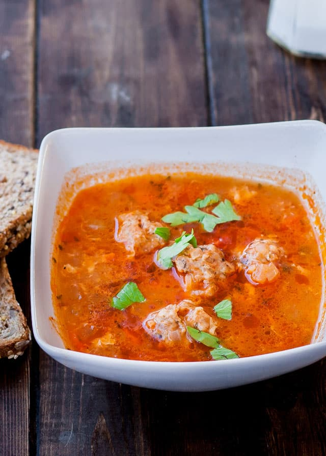 Romanian Meatball Soup