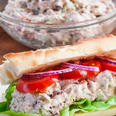 Tuna Salad with Pecans and Raisins