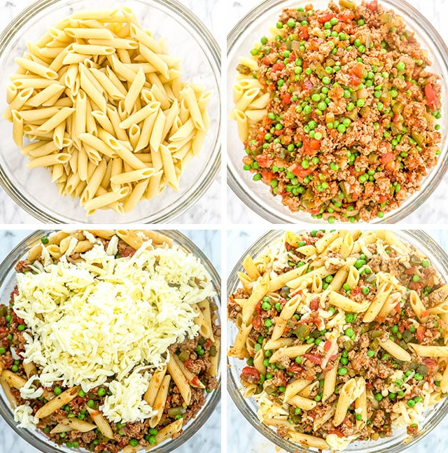 Baked Penne with Italian Sausage process shots