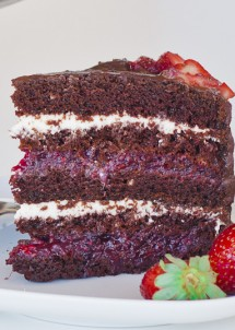 chocolate cake with fruit filling and cream cheese filling-11
