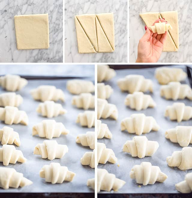 Homemade Croissants for forming croissants