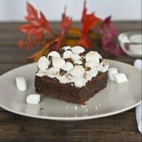 a rocky road brownie on a plate