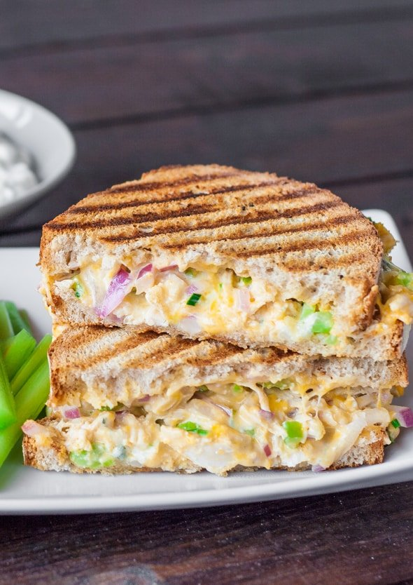 Buffalo Chicken and Grilled Cheese Sandwich - Jo Cooks