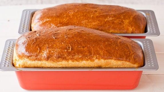 Baked Brioche Bread loaves