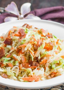 Cabbage Bacon Salad with Buttermilk Vinaigrette