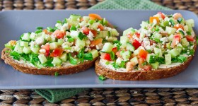open faced veggie sandwiches-1-3
