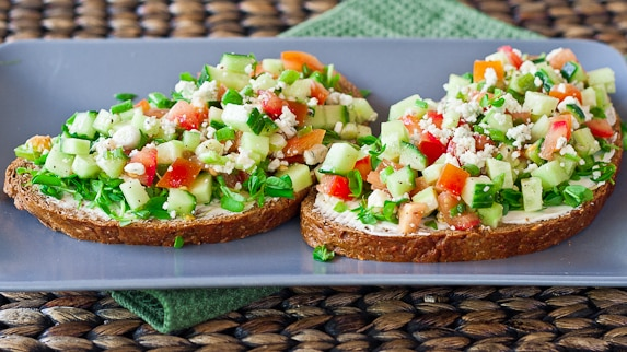 Open Faced Veggie Sandwiches - Jo Cooks