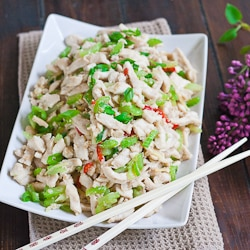 Shredded Chicken with Celery