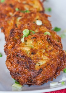 zucchini and potato fritters 7