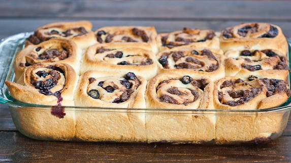 Blueberry Chocolate Rolls
