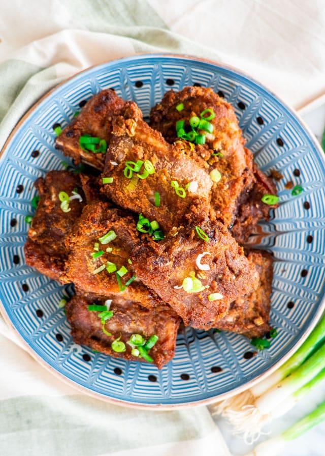 Korean BBQ Ribs on a plate