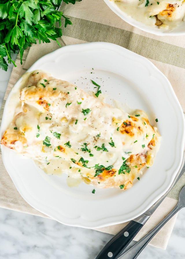 White Chicken Enchiladas Jo Cooks