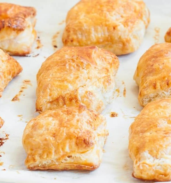 freshly baked buffalo chicken pastries