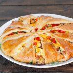 freshly baked breakfast pie on a plate