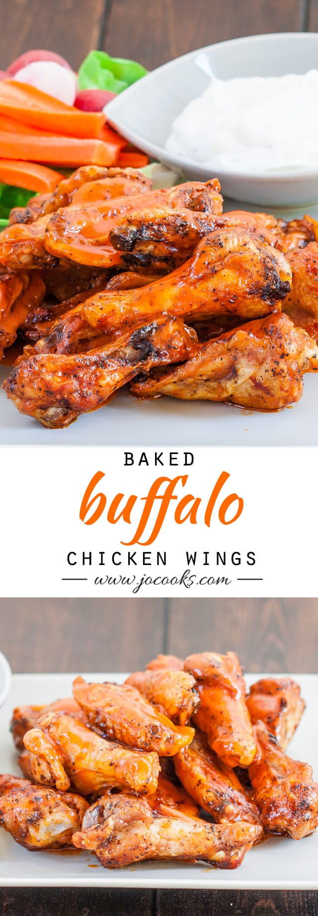 baked-buffalo-chicken-wings-collage