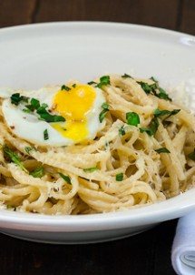 lazy linguini with quail eggs-1