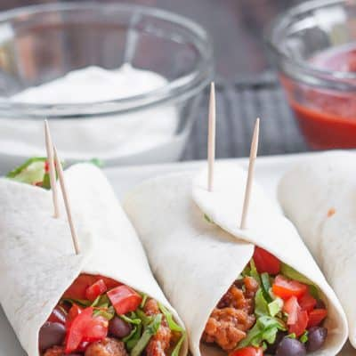 Skinnified Pork and Bean Tacos