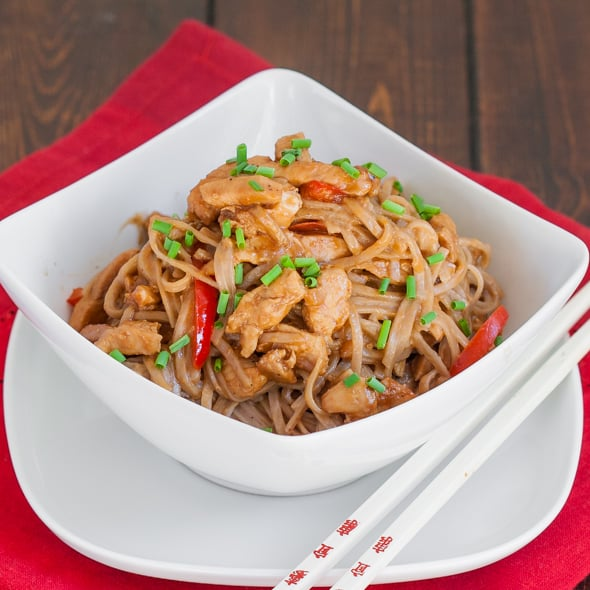 Spicy Peanut and Chicken Soba Noodles - Jo Cooks