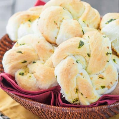 Garlic Basil Knots