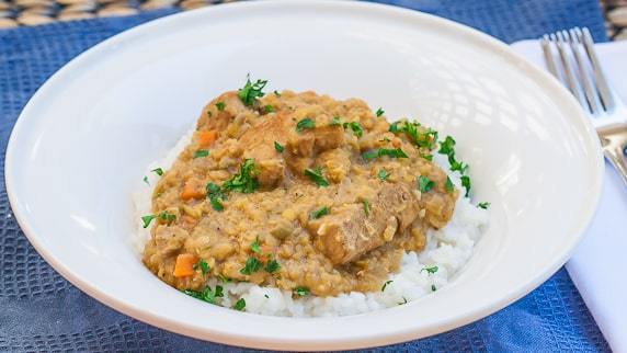 indian style lentils with pork-1-5