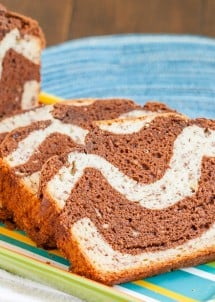 Marbled Chocolate Banana Bread