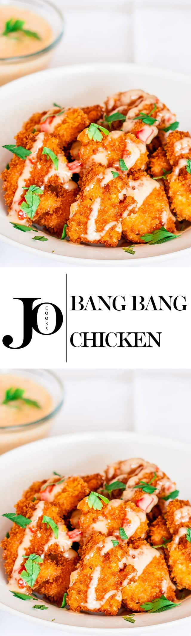 Bang Bang Chicken - From the Panko breading to the sweet chili mayo, this recipe is perfection!