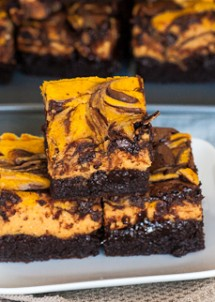 chocolate pumpkin brownies-1-3